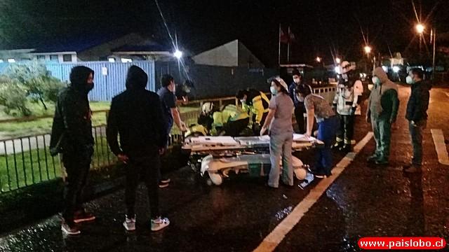Motociclista sufre accidente frente al Hospital base de Osorno