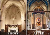 Before and After: St. Mary's Church, Norwalk, Connecticut