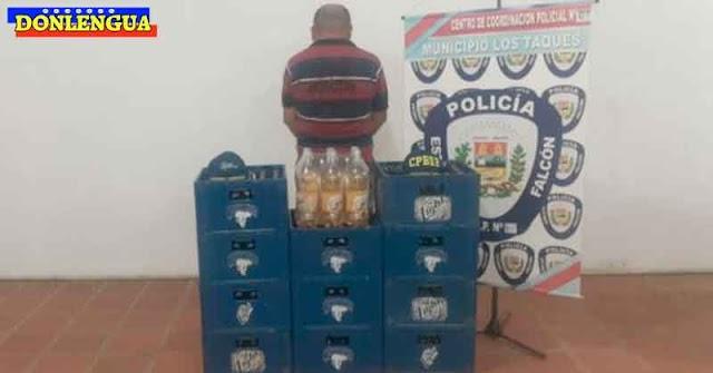 11 CAJAS DE BIRRA | Detenido en Los Taques por vender cervezas en su casa