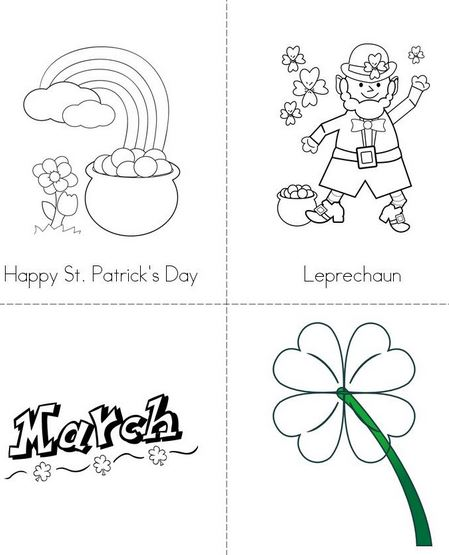 St. Patrick's Day Coloring Pages, Worksheets, Printables
