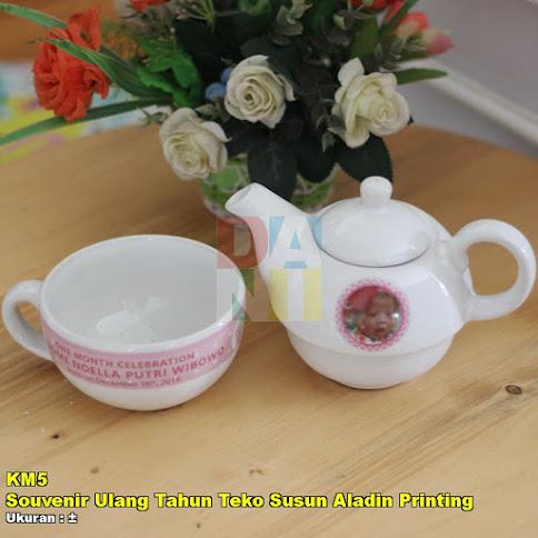 Souvenir Ulang Tahun Teko Susun Aladin Printing