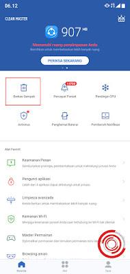1. Langkah pertama silakan buka aplikasi Clean Masternya terlebih dahulu, jika sudah pilih pada menu Berkas Sampah