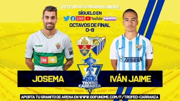 Málaga, Iván Jaime golea al Elche de Josema (0-8)