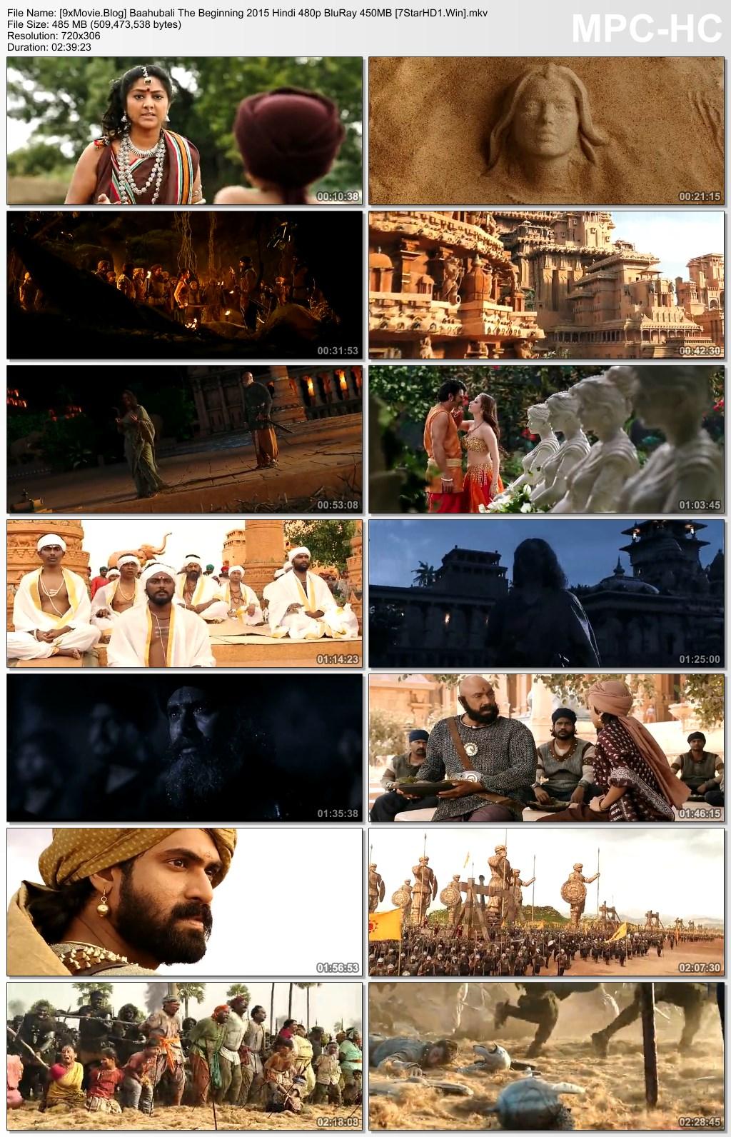 Baahubali The Beginning 2015 Hindi 480p BluRay x264 450MB