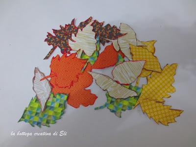 foglie-realizzate-con-cartoncini-stampati -per-ghirlanda-autunno