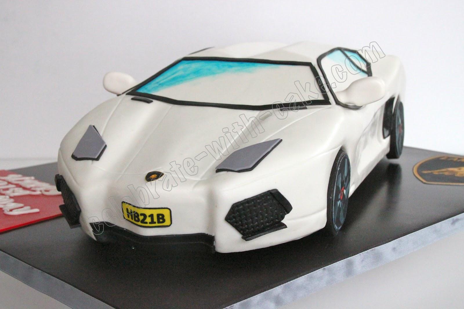 21st Birthday Lamborghini Aventador Cake