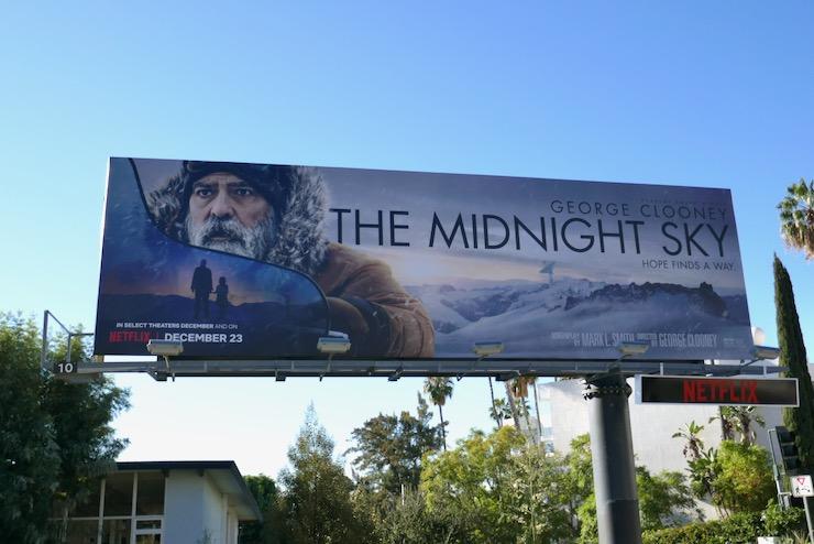 Midnight Sky Netflix film billboard
