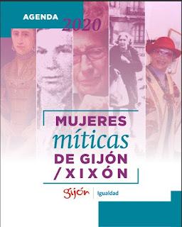 Portada de la Agenda 2020 Mujeres míticas de Gijón/Xixón