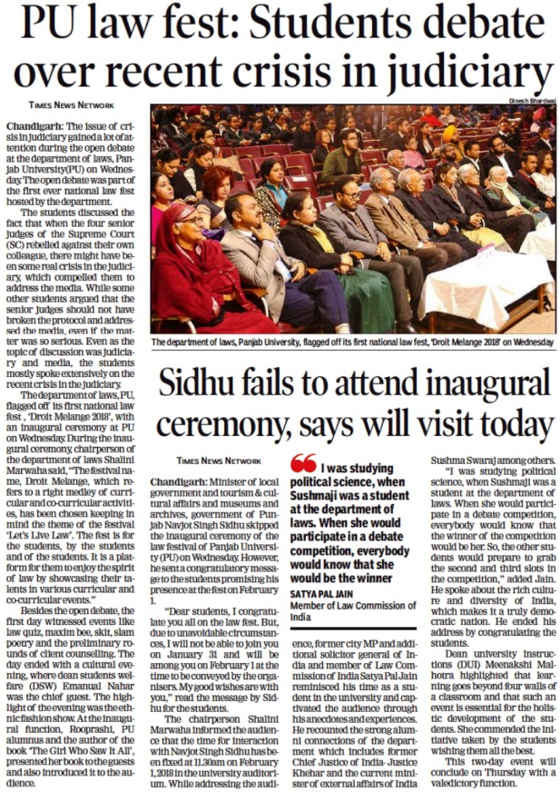 'I was studying political science, when Sushmaji was a student at the department of laws. When she would participate in a debate competition, everybody would know that she would be the winnder - Satya Pal Jain