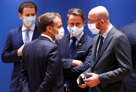 Leaders at the EU summit in Brussels - Belgium on July 18 Photo: Reuters