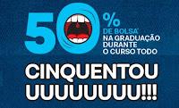 Cinquentou Estacio: 50% de bolsa na graduação!