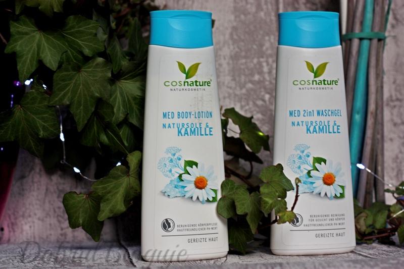 COSNATURE- Natursole & Kamille, żel do mycia ciała i balsam do ciała.