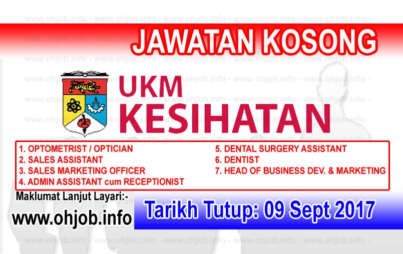 Jawatan Kerja Kosong UKM Kesihatan Sdn Bhd logo www.ohjob.info september 2017