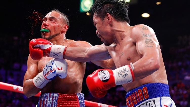 Manny Pacquiao quebró el invicto de Keith Thurman