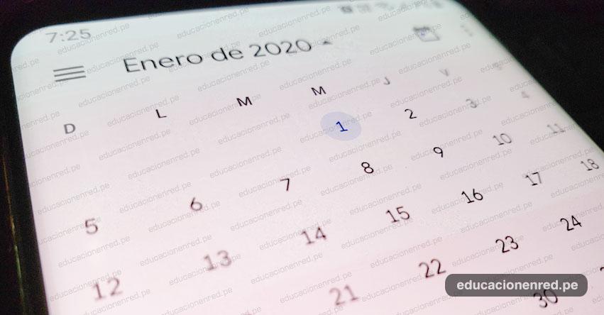 FERIADOS 2020: Estos son los días no laborables del próximo año