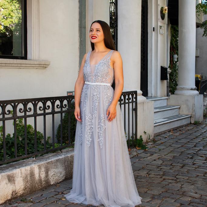 adina nanes everpretty grey dress