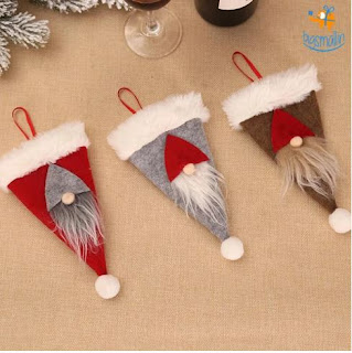 3D Santa Hat Cutlery Cover - bigsmall.in