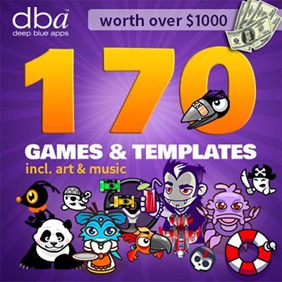 FREE game templates plus art from deep blue apps.