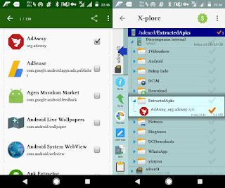 Cara Mudah mencadangkan dan Membackup Aplikasi yang Sudah Terinstal di Android menjadi Apk