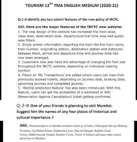NIOS TMA Tourism (337) Solved Assignment 20-21