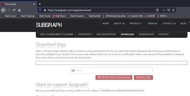 Vega download from offficeal website
