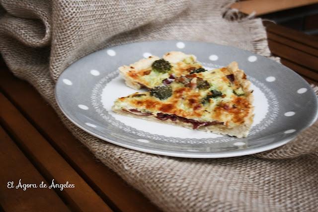 Tarta salada de cecina, calabacín y brócoli  El Ágora de Ángeles