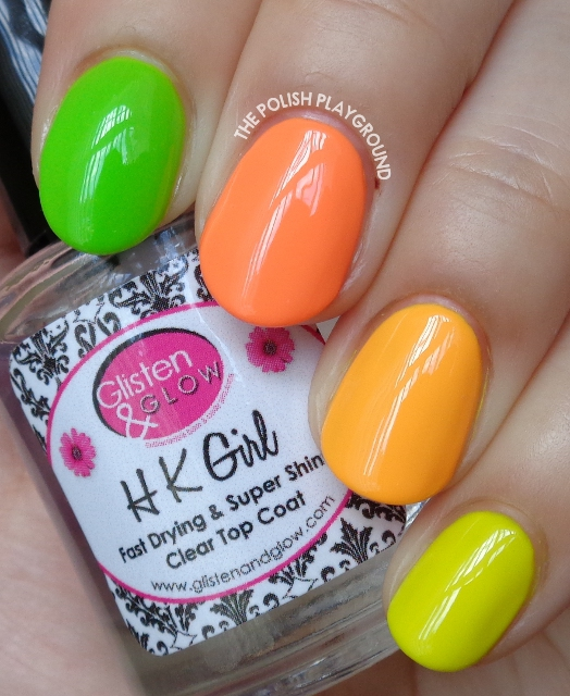Summer Neon Skittle Nail Art