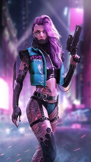 Wallpaper 3D Cyber Punk