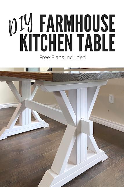 Farmhouse Kitchen Table with Trestle Legs