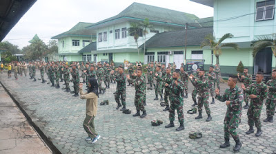 Jaga Imunitas Tubuh, Prajurit Korem 071/Wijayakusuma Senam Aerobik Covid-19