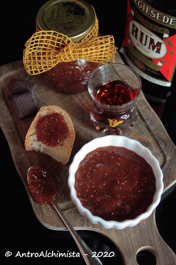 Confettura di Fichi, Rum, Cioccolato e Cannella