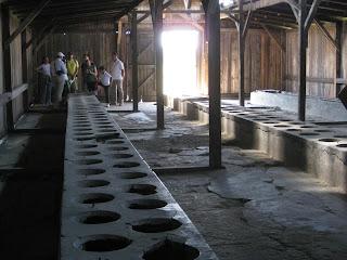 Toilets in Birkenau