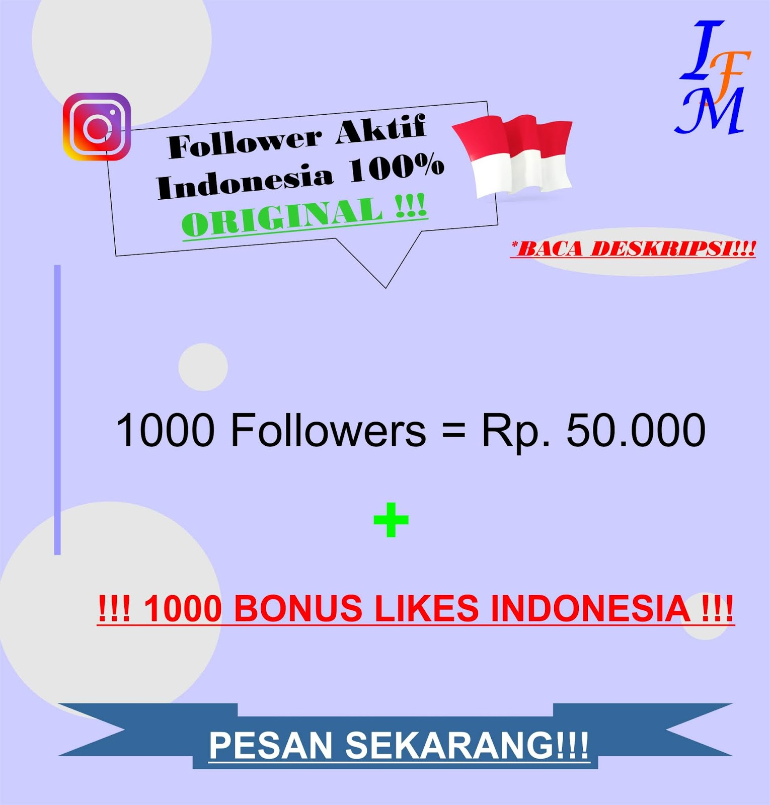 Jasa Tambah 1000 Follower Real Instagram Aktif 100% Akun Original Indonesia Murah