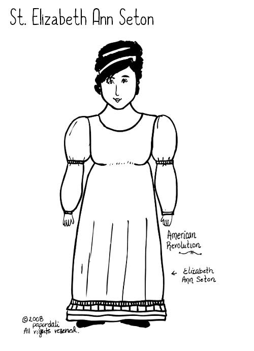 Paper Dali: Saint Elizabeth Ann Seton