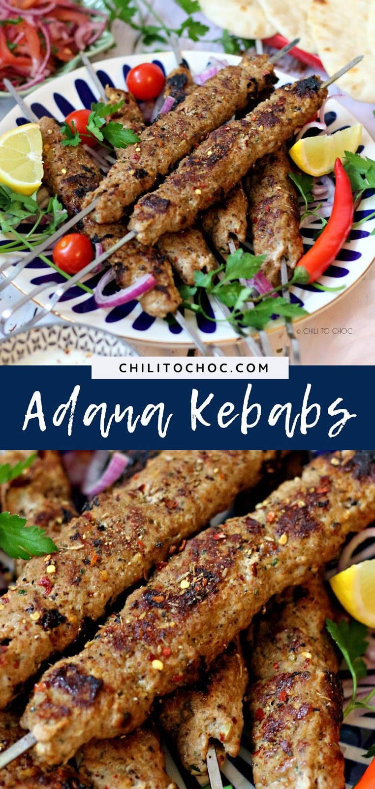 Adana Kebab (Turkish Ground Meat Kebab) - Pinterest
