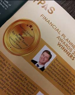 Roy Walker named winner Best Financial Planner (Financial Advisory Open Category) at the 2018 FPAS (Financial Planning Association of Singapore) Awards