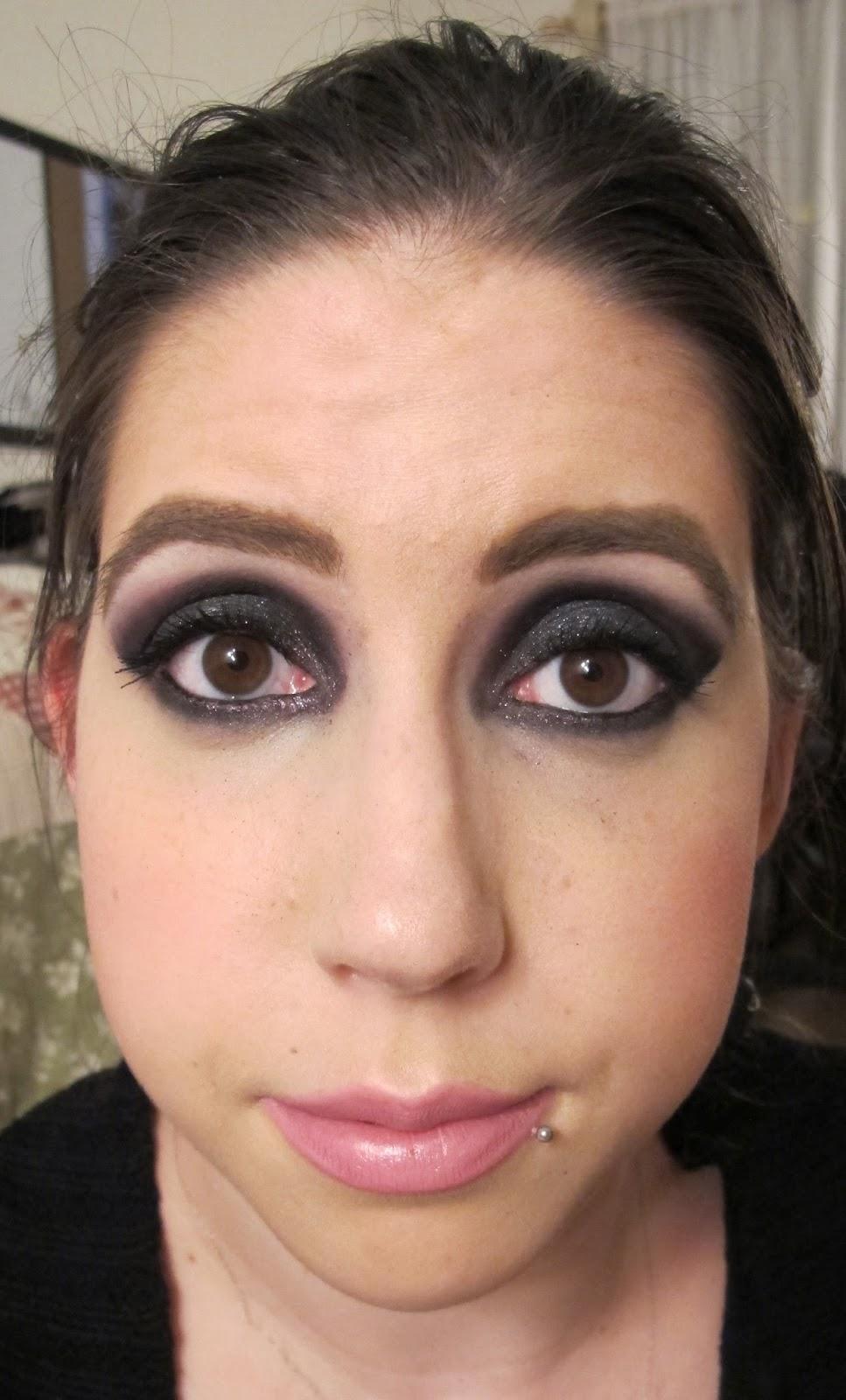 Steph Stud Makeup: Purple Sparkly Smokey Eyes