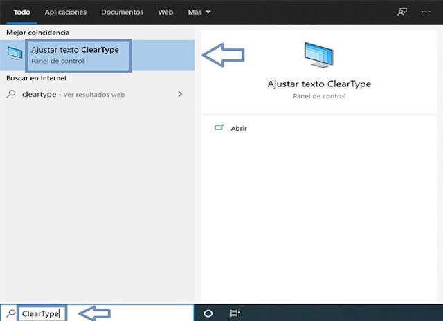 Activar ClearType, Función de Windows 10