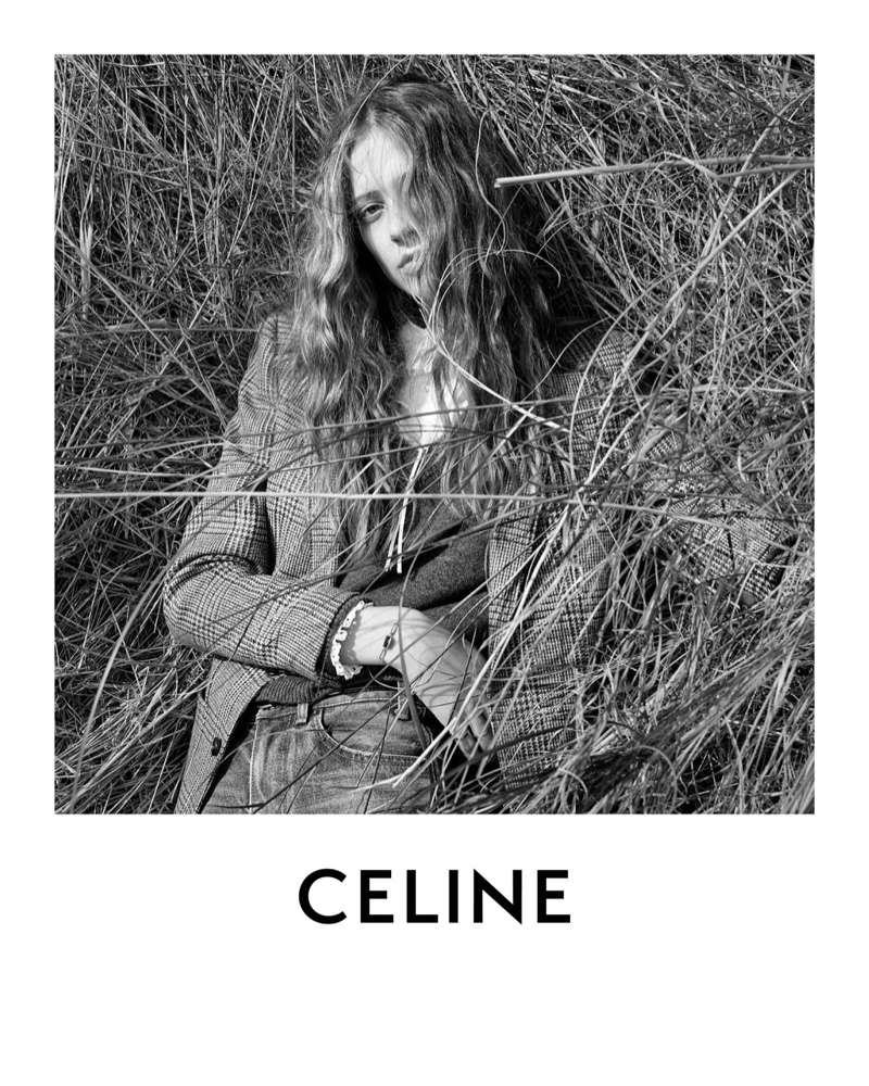 Anna Francesca stars in Celine fall-winter 2020 campaign.