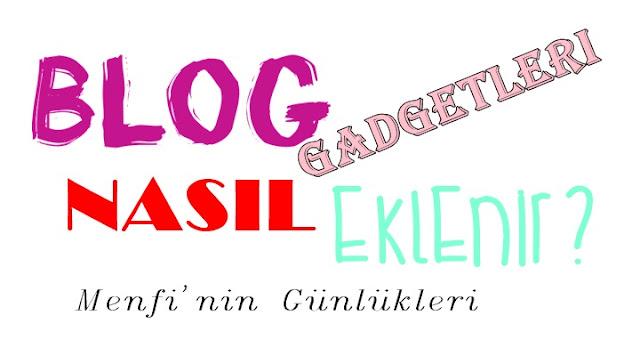 Blog gadget