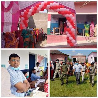 betiya-dm-sp-visit-booth-panchayat-election