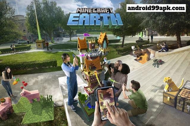 لعبة Minecraft Earth v0.21.0 كاملة بحجم 58 ميجابايت للأندرويد