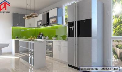 tu bep, tủ bếp, tủ bếp hiện đại, tủ bếp acrylic