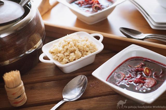 Zupa z buraków z komosą ryżową i imbirem