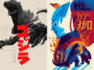 Godzilla Screen Prints by Oliver Barrett, Tom Whalen & Mondo