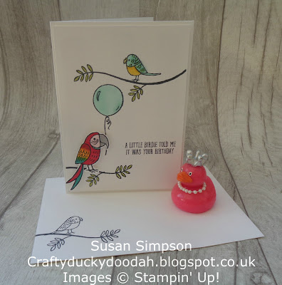 #stampinupik, #lovemyjob, Craftyduckydoodah!, Bird Banter, Coffee & Cards project April 2018, Stampin' Up! UK Independent  Demonstrator Susan Simpson, Supplies available 24/7 from my online store,