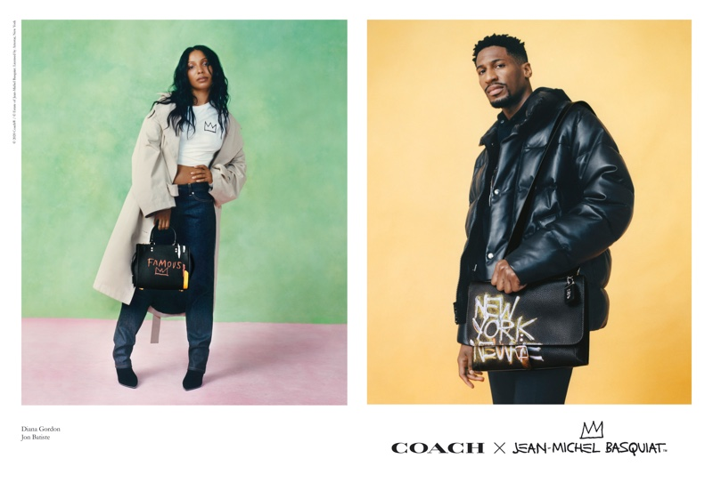 Diana Gordon and Jon Batiste appear in Coach x Jean-Michel Basquiat campaign.
