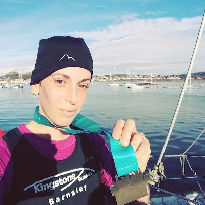 Me and conwy half marathon medal