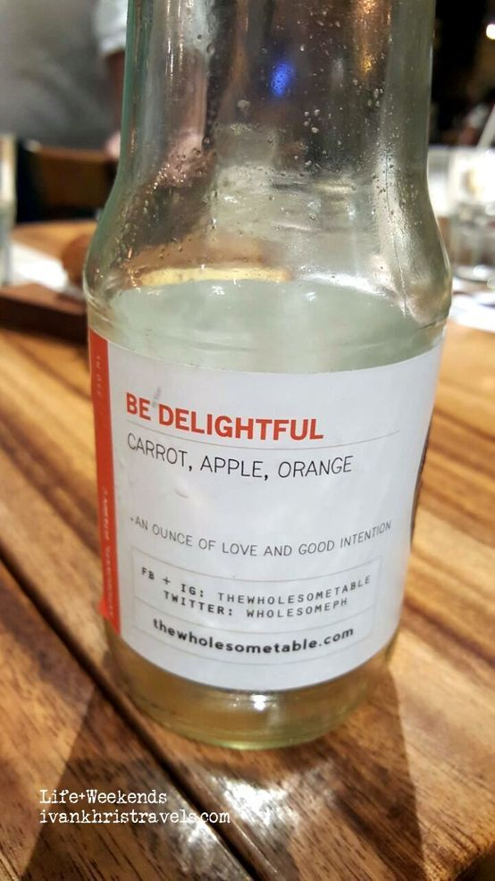Be Delightful drink at The Wholesome Table