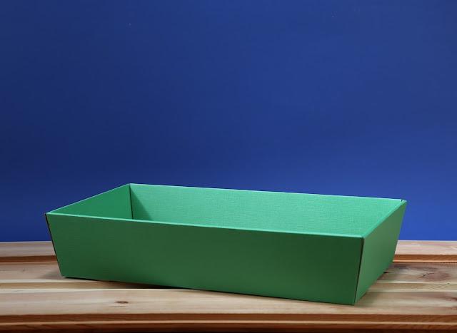 Kosz prezentowy prostokątny 25 x 46 morski